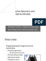 2-Projective Geometry and Camera Models Compatibility Mode