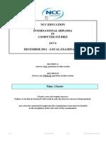 Java Exam Paper December 2012 -Final