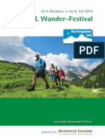 Programmheft Wanderfestival 2014