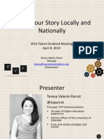 Telling Your Story Locally and Nationally