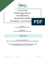 PM Exam Paper December 2012-Final
