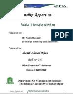 Pia Internship Report