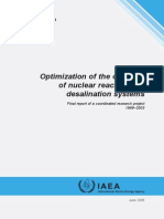 Optimization of the coupling of nuclear reactors and desalination systems