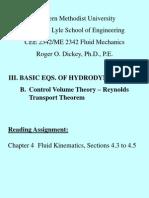 IIIB Control Volume Theory RTT