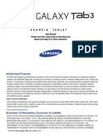 Galxy Tab 3 Manual
