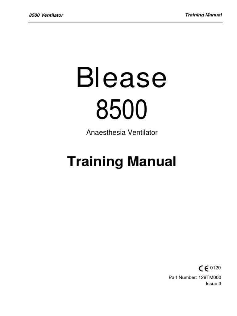 Manual de Entrenamiento Ventilador de Anestesia Blease