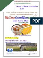 Nov 2013- Complete Current Affairs