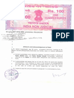 Mr. Satish Vuppalapati's Affidavit and Acknowledgement of Debt towards Kyko Global Inc.