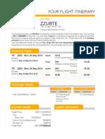 Itinerary - ZZUBTE