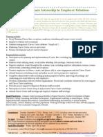 Employer Relations Intern Position 2014-15