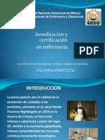 Acreditacino y Certificacion en Enf.