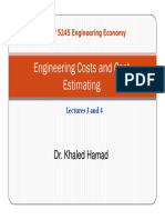 Engineering Costs Estimation
