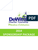 Sponsorship Package 2014