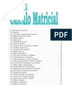 Algebra Lineal -Calculo Matricial