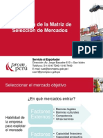 Matriz Seleccion e Pais a Exportar