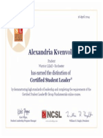 student leader certificate wsur warriors lead