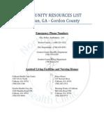 nghc calhoun resource list
