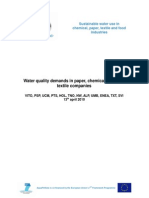AquaFit4Use - Water Quality Demands in Paper-chemical-food-textile Industry