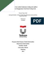 Proposal Tugas Akhir Implementasi dan Analisis Software Performance Testing pada Toko Online Menggunakan Cloud Based Testing Tools