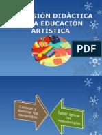 EXPOSICION DIMENSION DIDACTICA DE LA EDUCACION ARTÍSTICA