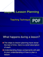 steps to lesson planning feb  22
