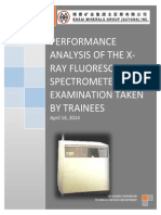 An Analysis of the Xrf Exam Results, performance analysis