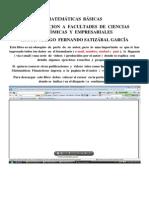 Matematicas Basicas Aplicadas a Las Ciencias Economicas y Administrativas