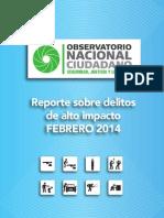 Reporte Mensual Febrero ONC WEB- 14 Abril 2014