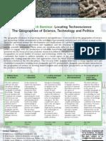Locating Technoscience Flyer