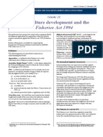 Aquaculture Development and the Fisheries Act 1994