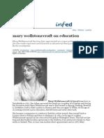 Mary Wollstonecraft on Education