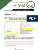 vsu educ 202 examining teaching practices form
