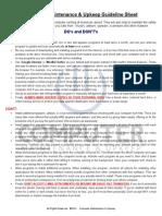 Guideline Sheet