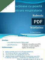 Curs 1-2 Boli infectioase cu poartă de intrare respiratorie - rujeola,rubeola, scarlatina,varicela