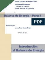14. Introducción al balance de energía - Parte I -2013-I