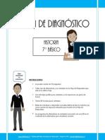 Prueba de Diagnostico Historia 7basico 2013