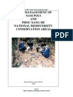 Field management of Nam Poui and Phou Xang He National Biodiversity Conservation Areas
