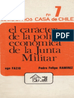 El carácter de la política económica de la Junta Militar