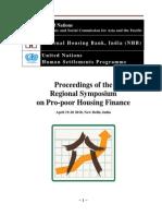 Proceedings of Regional Symposium on Pro-poor Housing Finance 2010
