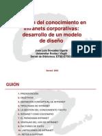 Gestin Del Conocimiento en Intranets Corporativas Desarrollo de Un Modelo de Diseo3174