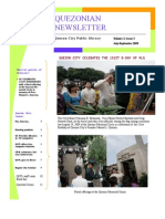 Quezonian Newsletter September 2009