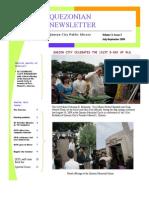 Quezonian Newsletter September 2009