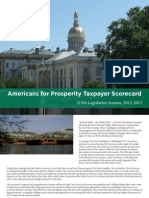 Americans for Prosperity Taxpayer Scorecard, 215th Legislative Session