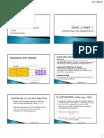 CHAPTER 2 PART 1 Sampling Distribution