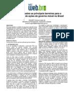 Um ensaio sobre as principais barreiras para a disseminação de ações de governo móvel no Brasil