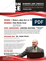 Common Core Expose with Dr. Duke Pesta Quincy, MA June 6, 2014