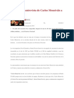 Reproducen entrevista de Carlos Monsiváis a Octavio Paz