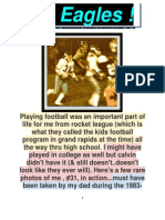 chkd PLAYING FOOTBALL for GRAND RAPIDS CHRISTIAN HIGH EAGLES & MORE, 4 CHRIST ! 1982-85