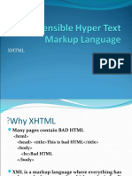 2- Extensible Hyper Text Markup Language