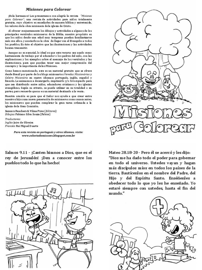 Misiones Para Colorear - A5